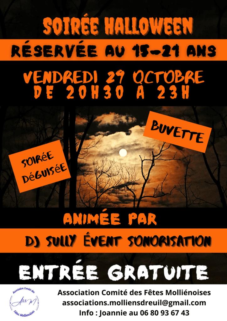 Soirée Halloween le 29 Octobre 2021 pour le jeunes de 15-21ans Entrée gratuite et déguisée  de 20 h 30 min à 23 h 00 min